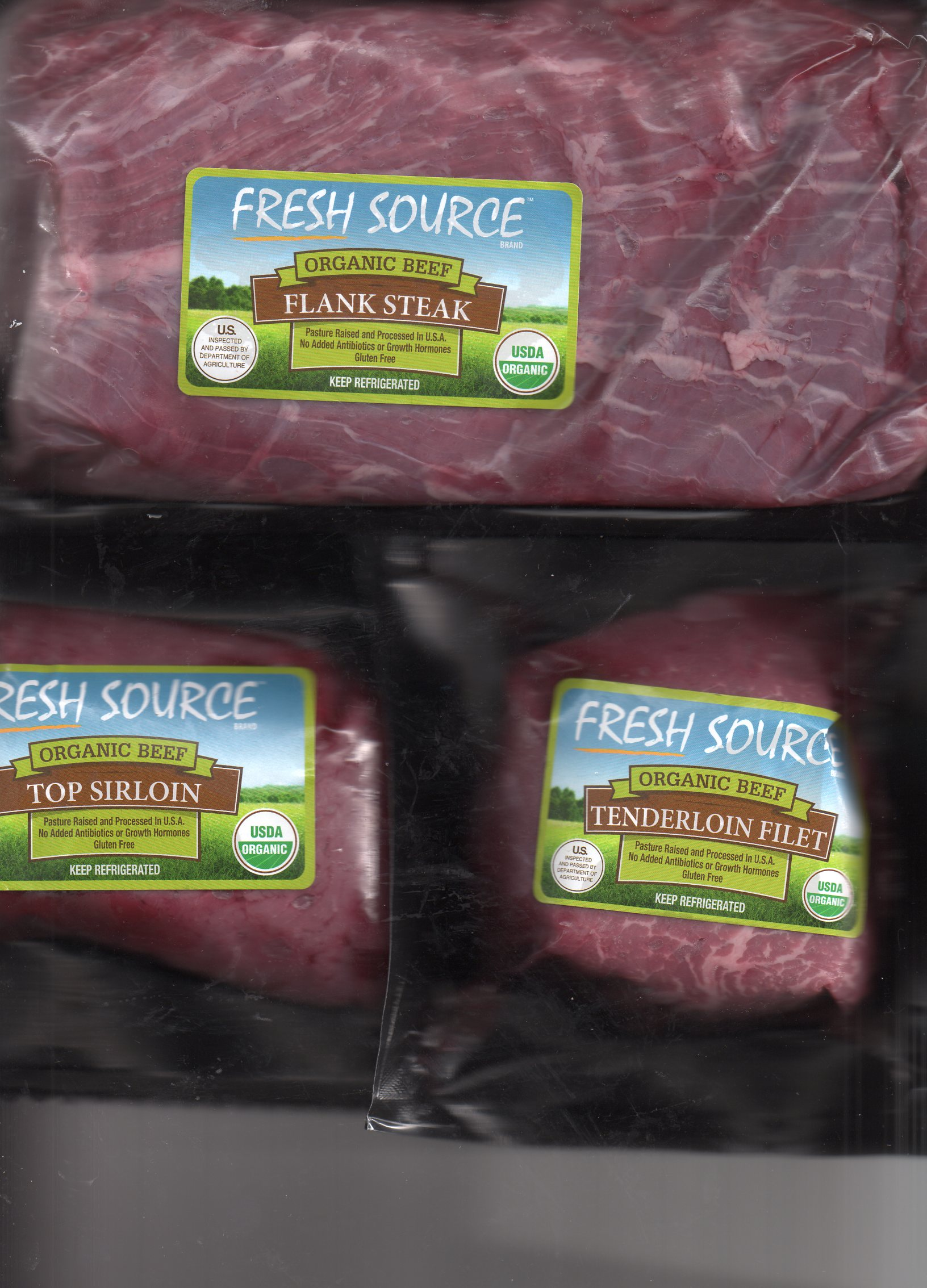 Fresh Source  organic steaks